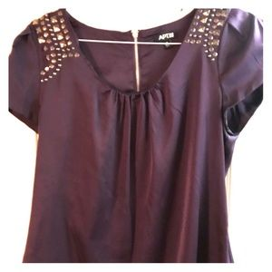 Beautiful plum top with awesome sleeve details